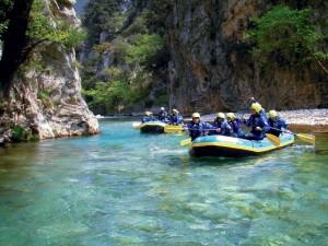 rafting στον εύηνο