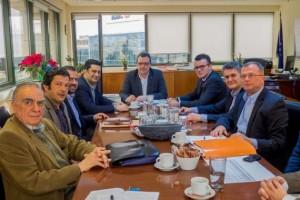 Από την τελευταία συνάντηση του Σ. Φάμελλου με τη συντονιστική επιτροπή των φορέων της Αιτωλοακαρανανίας κατά της εκτροπής του Αχελώου