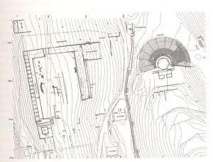 Τοπογραφικό σχέδιο της Αγοράς και του θεάτρου Στράτου