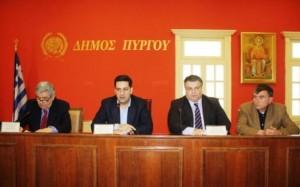 φωτό από τη συνεδρίαση της ΠΕΔ Δυτικής Ελλάδος στον Πύργο