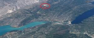 Ο ΧΥΤΑ και η απόστασή του από την τεχνητή λίμνη (κλικ για μεγέθυνση)